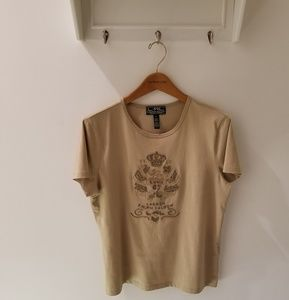 Lauren Ralph Lauren 100% Cotton Tee Shirt XL
